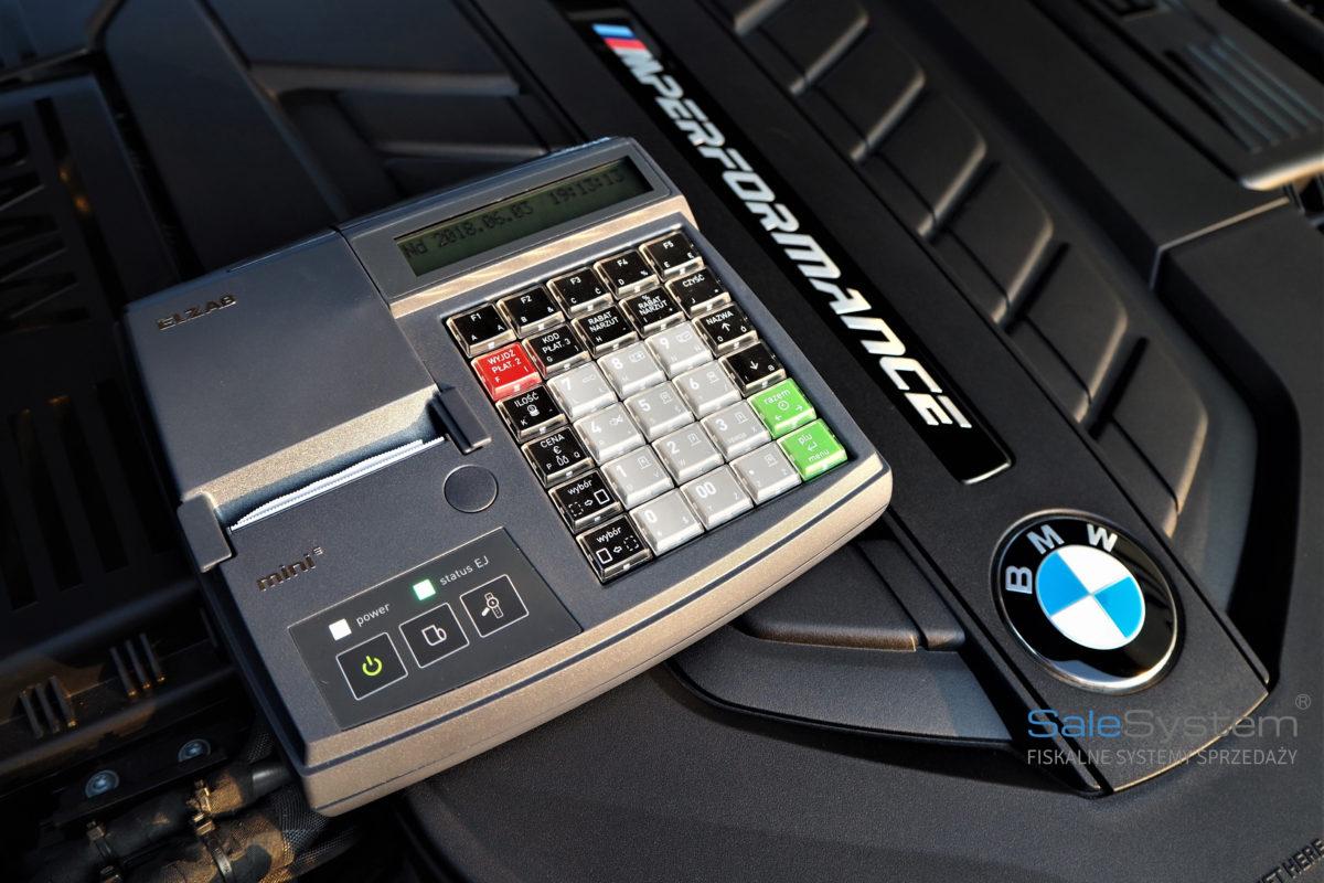Kasa fiskalna online dla serwisu samochodowego Elzab Mini E Sale System
