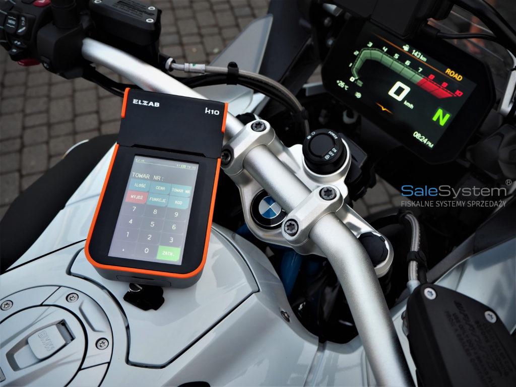 Kasa fiskalna online do serwisu motocykli Elzab K10 Sale System